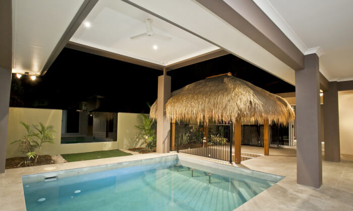 New Home Tropical Swimming Pool